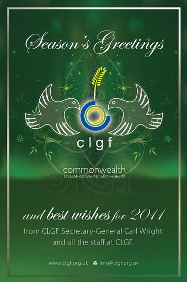 Seasons Greetings from Carl Wright and all at CLGF